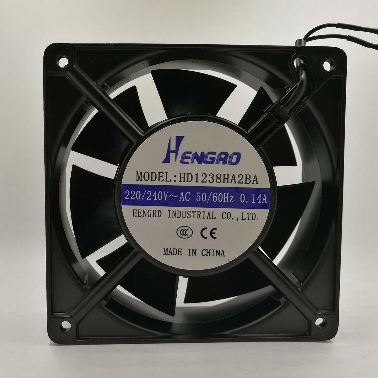 1PCS HENGRO HD1238HA2BA 12038 220V  240V 0.14A Cooling fan