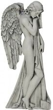LARGE Rustic Stone Effect Fairy Angel Wall Art Plaque In/Outdoor Garden NEW 78cm