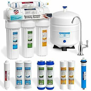 5028f7b6a29d Express Water 5 Stage Home Drinking Reverse Osmosis System Plus Extra Full  Set