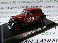 Voiture hachette 1/43 Mille Miglia : FIAT 508 C balilla 1948