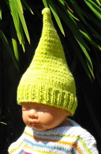 Printed Instructions- Baby Garden Gnome Pixie Hat Knitting Pattern ...