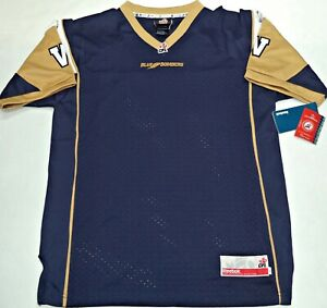 size 40 d0b37 2aa59 Details about LARGE-NWT REEBOK AUTHENTIC CFL WINNIPEG BLUE BOMBERS YOUTH  JERSEY MSRP $80
