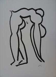 Henri-MATISSE-L-039-acrobate-Lithographie-signee-RARE-RIVES-1952