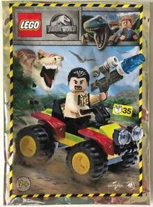 Blue-Ocean-LEGO-JURASSIC-WORLD-VIC-Hoskins-con-Buggy-Foil-Pack-Set-122009