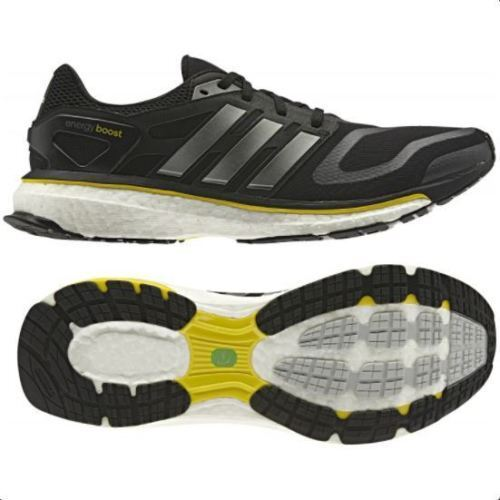 adidas Energy Boost M Black Yellow Iron Running Shoes Mens Size 9.5 G64392  for sale online  4a7090ce5