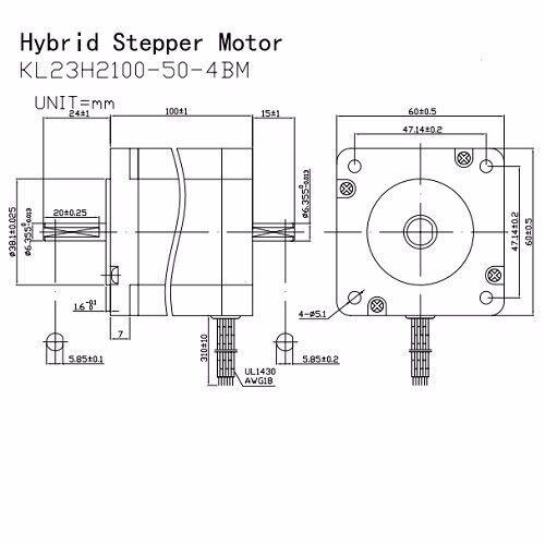 "3PCS NEMA23 570OZ//IN 5A 1//4"" DUAL SHAFT STEPPER MOTOR"