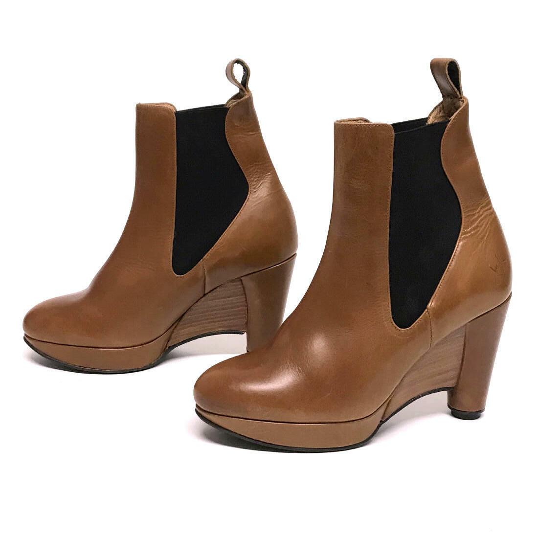 JOHN FLUEVOG PAGLIA Ankle Boots Booties Platform Wedge Heels 9 NEW RaRE SOLDOUT!