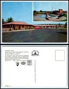 CALIFORNIA-Postcard-Paso-Robles-Suburban-Lodge-O31