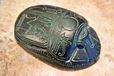 Altägyptischer SKARABÄUS mit Horus und Udjat-Augen - ca. 1300 v. Chr.