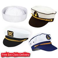 Adult Sailor Hat Adjustable Sailor Hat Captain Hat Cap Mens Ladies Fancy Dress