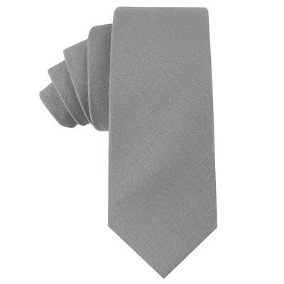 100/% Linen /& Cotton Black Skinny Tie Wedding Tie Husband Groomsmen Ties Gift Him