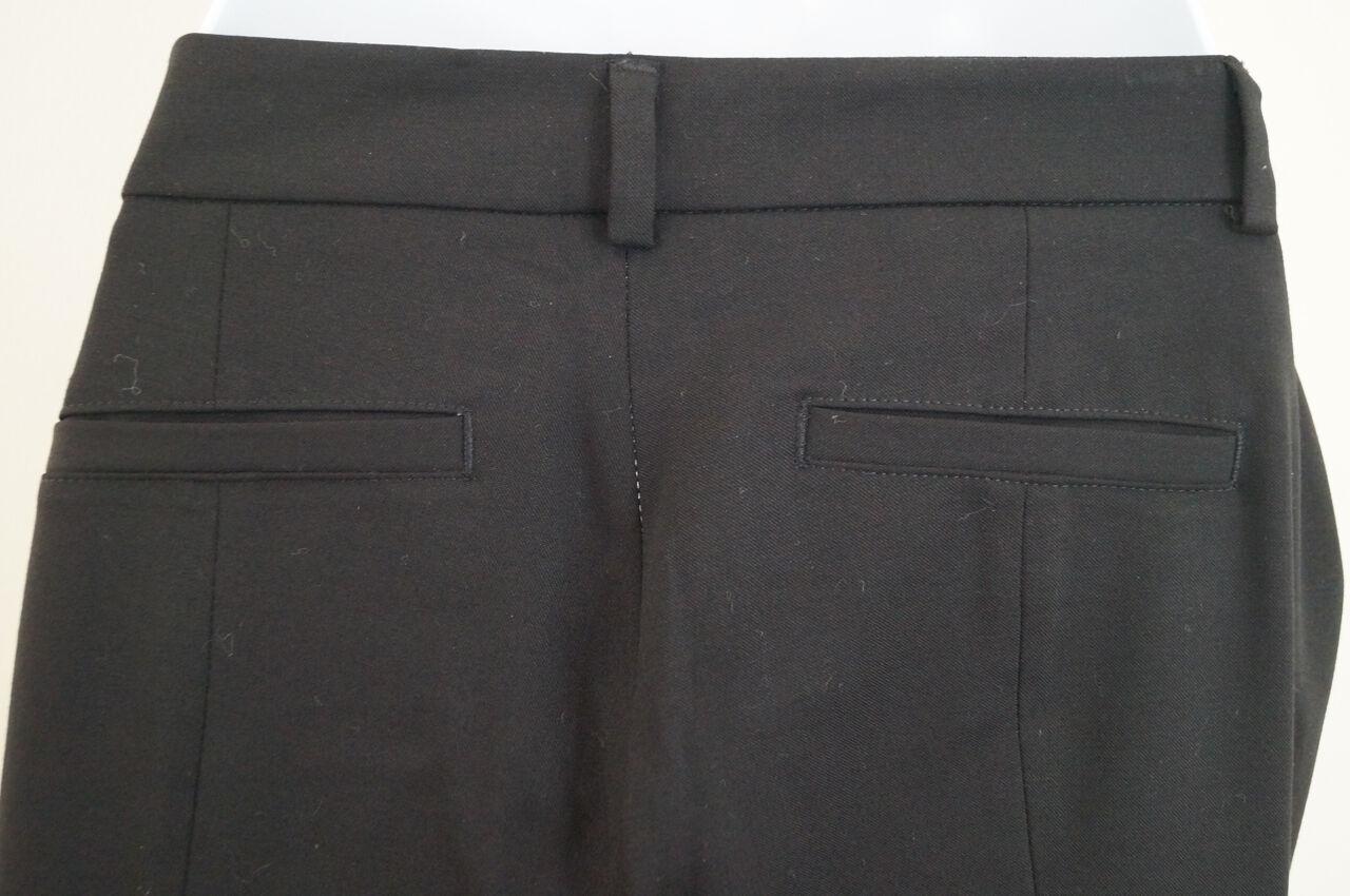 rosaO Donna Nero Nero Nero Misto Lana Vergine Slim Leg Pantaloni Pantaloni Formali UK10; IT42 77b62a