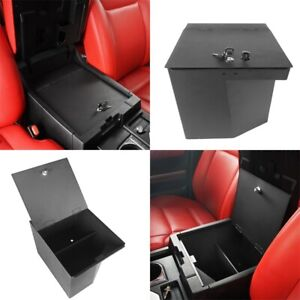 Fit for 2014-2021 Toyota Tundra Center Console Organizer Storage Box Steel Black