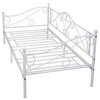 Daybed Sofa Bed Frame Solid Steel Slat Support Guest Dorm Home Furniture 77x36