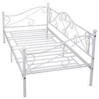 Daybed Sofa Bed Frame Solid Steel Slat Support Guest Dorm Home Furniture 77x36