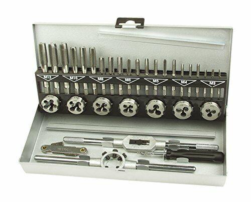 Brüder Mannesmann Werkzeuge M53250-B Set de Tarauds et Filières 32 Pièces Imp...