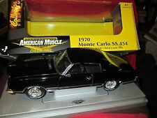 1/18 1970 monte carlo black 70 71 chevrolet ERTL  American Muscle Limited editio