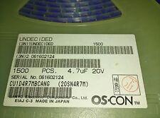 10x  SANYO 20SN4R7M , CU1D4R7MBCANG , ELEC CAP 4.7uF 20VDC 20% SMD , cut tape!
