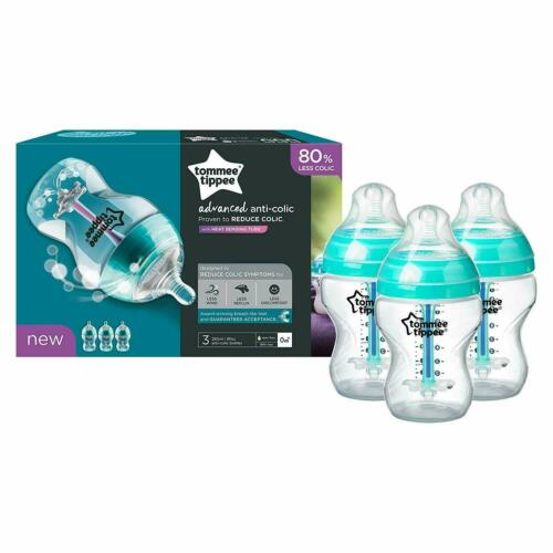 Tommee Tippee Advanced Comfort Anti-Colic Baby Bottles 260ml Decorated bottles