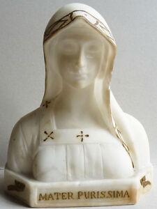 Sainte-Vierge-Statue-en-albatre-marbre-signee-Attilio-FAGIOLI-1877-1966