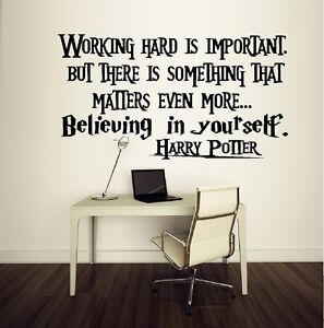 Image Is Loading Working Hard Is Important Harry Potter Wall Or