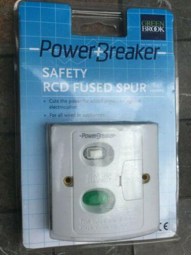 Greenbrook Powerbreaker électrique de sécurité RCD Fused éperon Latching 30 mA H92WPA-C