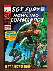 Sgt-Fury-77-1970-7-0-FN-Marvel-Key-Issue-Bronze-Age-Comic-Book-Stan-Lee