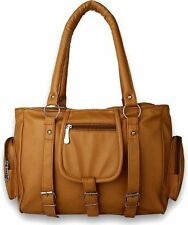 Deal Especial Brown Big Fancy Shopping Women's Handbags Shoulder Leather Bag 096