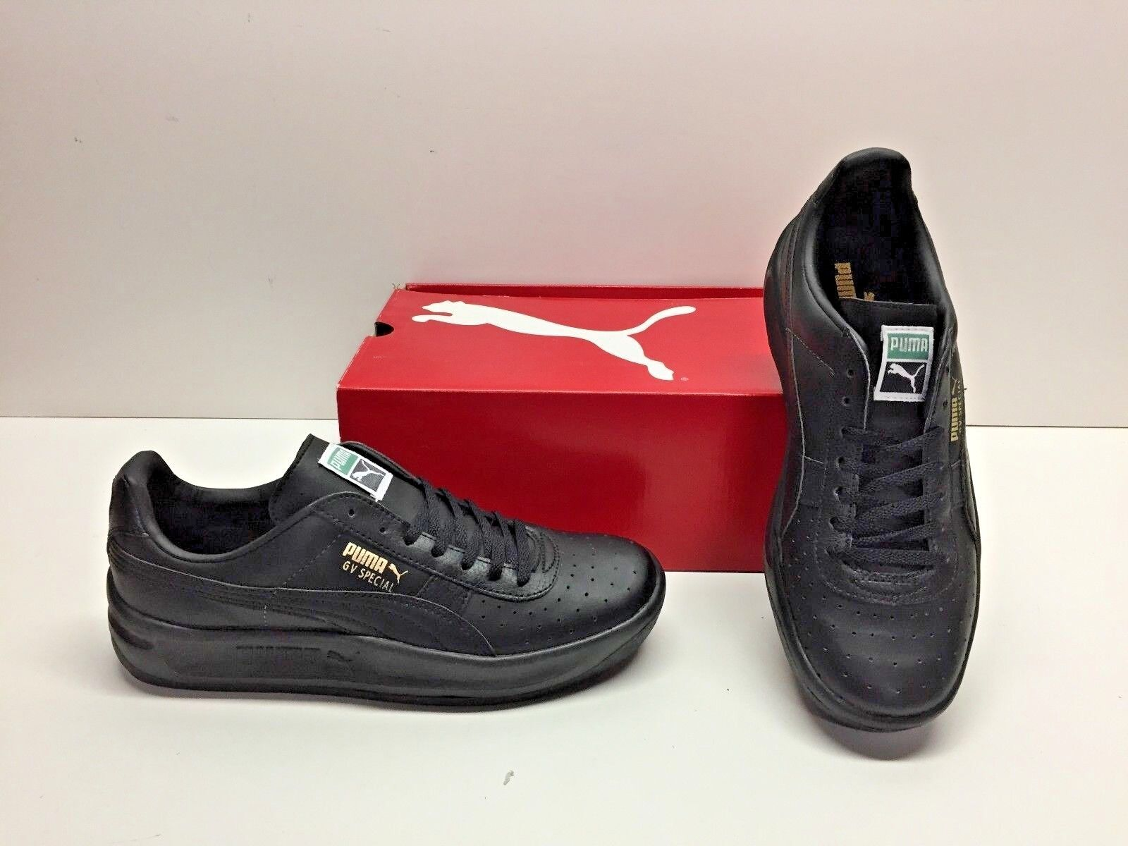 new styles 771ee 870cc Puma GV Special Black Tennis Classic Walking Sneakers Shoes Mens 7 Womens  8.5