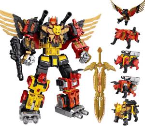 Transformers-WeiJiang-Predaking-Combiner-5-In-One-Set-Feral-Rex-Action-Figure