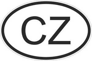 OVAL-sticker-flag-country-code-bumper-decal-car-laptop-czech-republic-CZ
