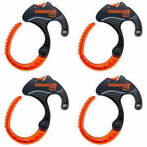 """Reusable 4 Pack New Cable Cuff PRO  Large 3""""  Cable Clamp  Adjustable"""
