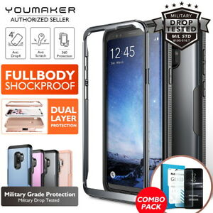 YOUMAKER-Samsung-Galaxy-S9-S9-Plus-HEAVY-DUTY-Shockproof-Protective-Case-Cover