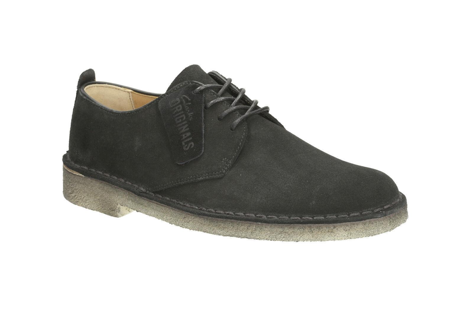 Clarks Originals da Uomo Deserto London Camoscio Camoscio Camoscio Nero Scarpe con Lacci   Colore molto buono  18b5a4