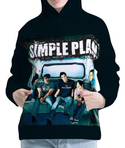Simple Plan Womens Hoodie Hooded Pullover Sweatshirt aco20051