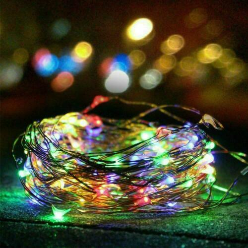 LED Solar String Lights Waterproof 10M Copper Wire Garden Outdoor Fairy /& L1C7