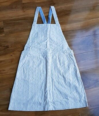 Boden Ladies Broderie Ivory Pinafore Dungaree Age 16 YRS or UK 8-10 BRAND NEW