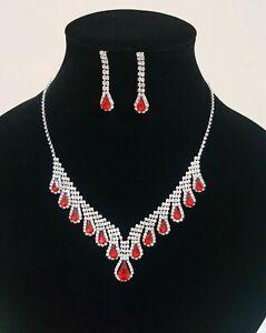 Diamante Necklace Set Wedding or Party wearUK Seller