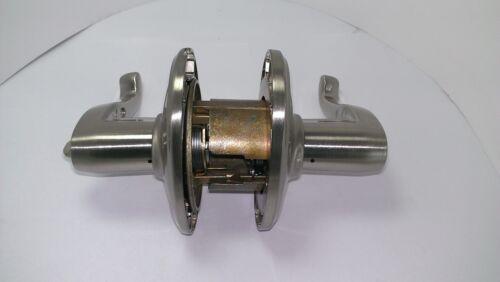 Schlage F51AFLA619WKF Satin Nickel Flair Single Cylinder Keyed Entry Door Lever