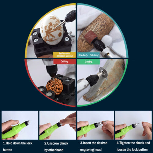 55pcs Electric Grinder Engraving Pen Grinding Milling Rotary Drill Nail Tool