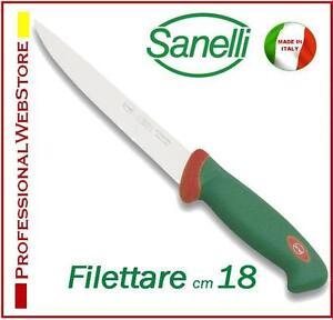 FILETTARE-PESCE-SANELLI-cm-18-COLTELLO-PROFESSIONALE-per-filettatura-PESCHERIA