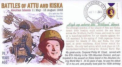 "COVERSCAPE computer designed legendary 70th anniversary WW2 ""Aleutians"" cover"