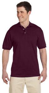Jerzees-Men-039-s-Heavyweight-Jersey-Welt-Knit-Collar-Bottom-Hem-Polo-Shirt-J100