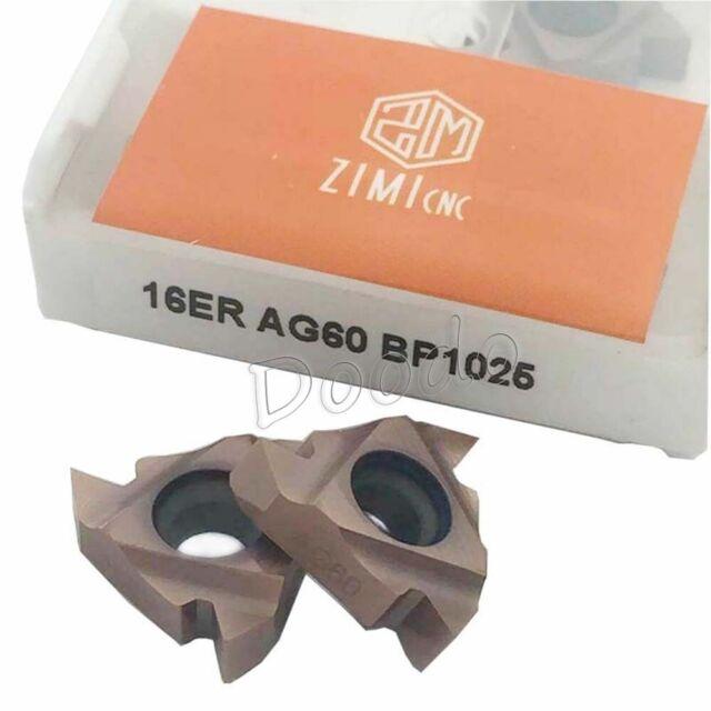 """10pc MMT 16ER AG60 US735 Carbide Insert Lathe Threading Blade tool16ER 3//8/"""" AG60"""