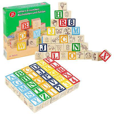 Infantil Educativo Madera Cubos Númerios Letras Juguete Juego Parque Abecedario