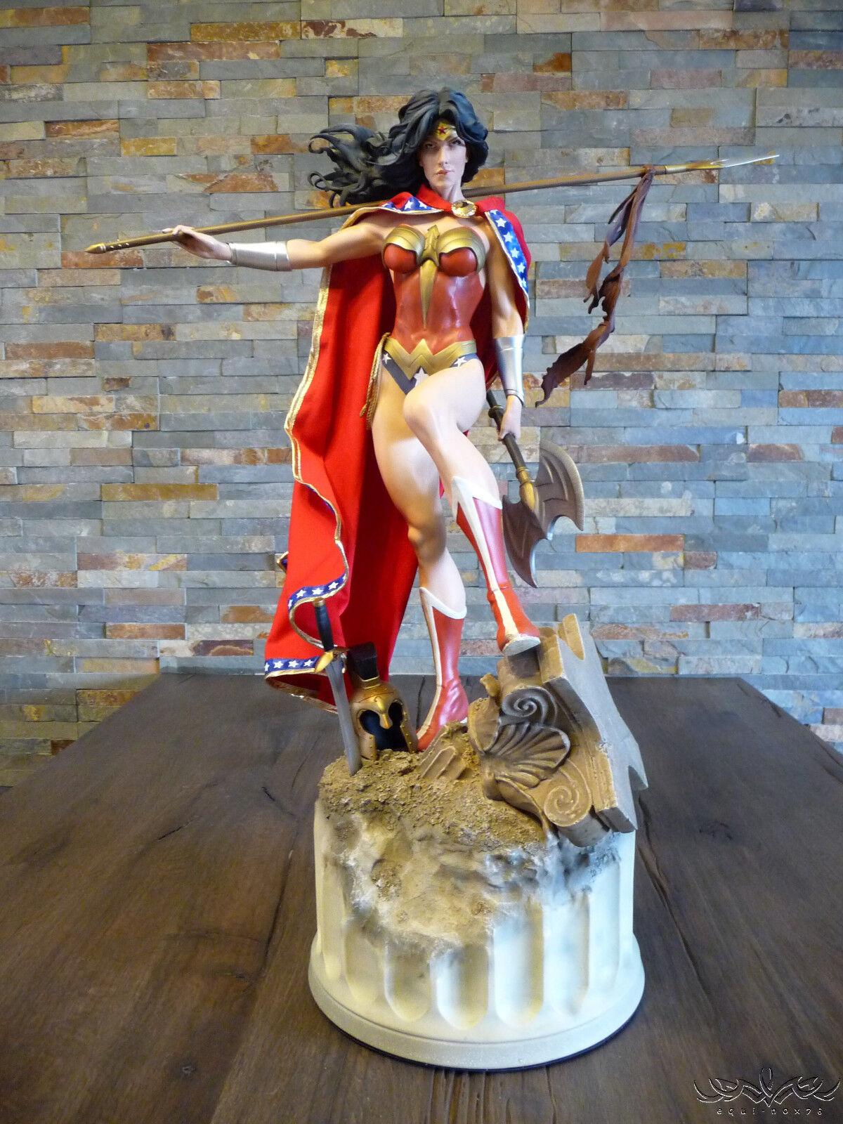hermoso Wonder Mujer Sideshow 1 4 Cape solamente    para Premium Format NUEVO hecho a mano ooak  Wow   muchas concesiones