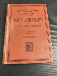 B35-Hoepli-Nona-Edizione-Diritto-Amministrativo-1912