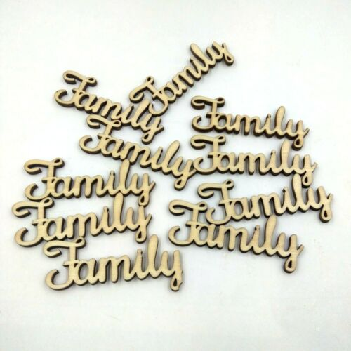 46 Pieces//lot Simple Wood Letters Family Love for Home Decor Wooden Pieces