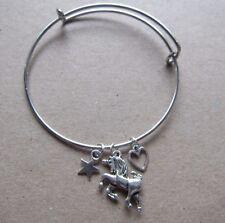 Girls Unicorn Cluster Star Heart Charm Bangle Bracelet New in Gift Bag