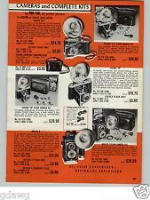 1954 PAPER AD 2 Sided Pho Tak Photak Camera Rollex 20 Cameras Eagle Eye Foldex